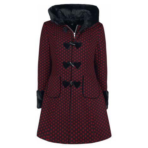 Hell Bunny Amelia Coat Dívcí kabát cervená/cerná