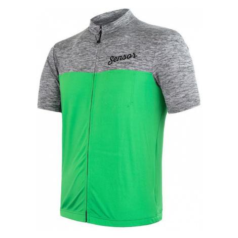 Pánský cyklodres SENSOR Cyklo Motion kr. rukáv šedá/zelená