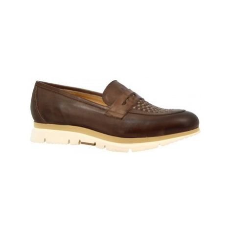 Leonardo Shoes 440-69 VITELLO FANGO Hnědá