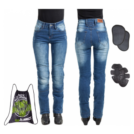 Dámské Moto Jeansy W-Tec Panimali Modrá