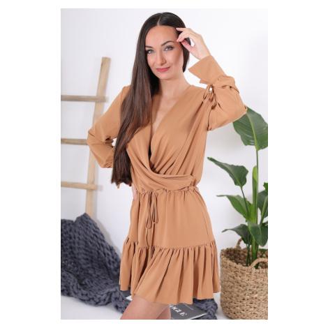 Šaty s volánky / Camel