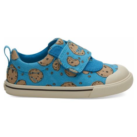Blue Cookie Monster Printed Canvas TINY Doheny Sneak Toms