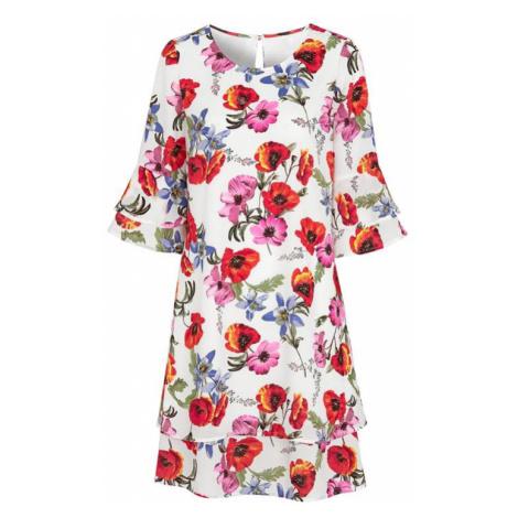 Květované šaty s volánovými rukávy Cellbes