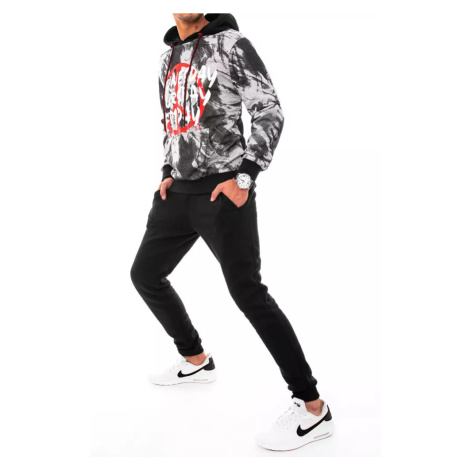 Dstreet AX0477 gray and black men's tracksuit