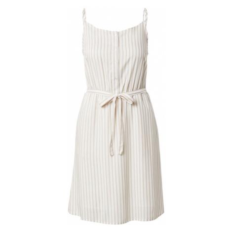 VILA Šaty 'HARPER' bílá / béžová