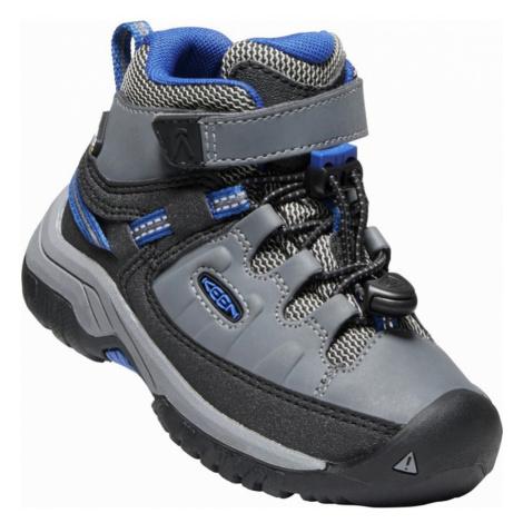 KEEN TARGHEE MID WP C Dětská vysoká treková obuv 10008932KEN01 steel grey/baleine blue