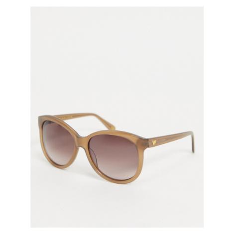 Whistles oversized style sunglasses-White
