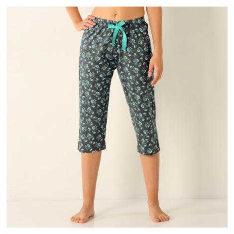 Blancheporte 3/4 pyžamové kalhoty, žerzej bl.modrá/šedá