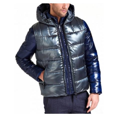 Guess pánská modro šedá zimní bunda 2v1