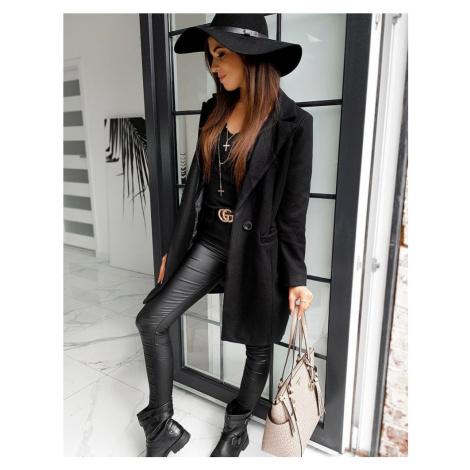 Černý dámský kabát NY0348 BASIC