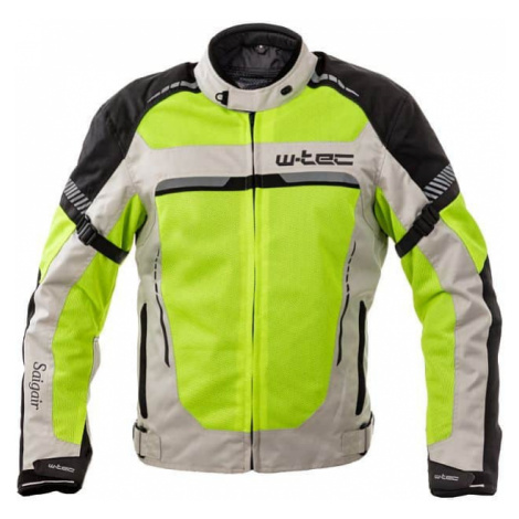 Pánská letní moto bunda W-TEC Saigair Barva Fluo Yellow-Gray