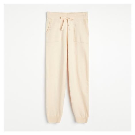 Reserved - Úpletové kalhoty - Krémová