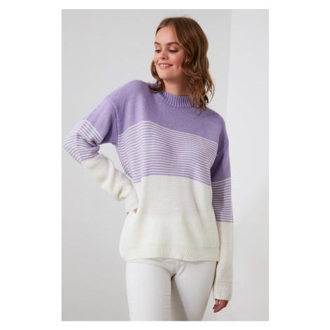 Trendyol Lila Color Block Knitwear Sweater