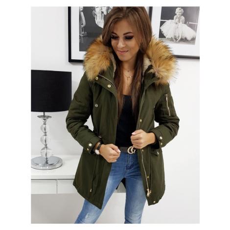 EFECTO dámská zimní bunda - zelená ty0793 BASIC