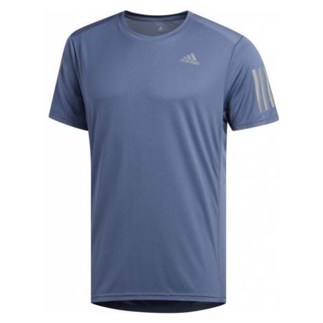 adidas OWN THE RUN TEE modrá - Pánské triko