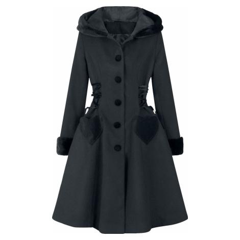 Hell Bunny Kabát Scarlett Dívcí kabát černá