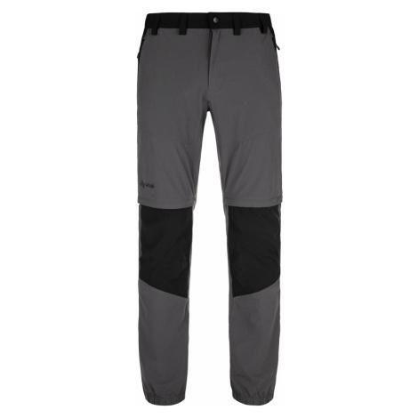 Pánské outdoorové kalhoty KILPI HOSIO-M tmavě šedá