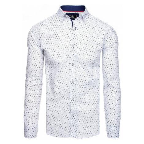Dstreet Zajímavá bílá pánská košile