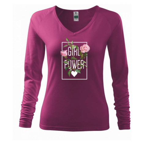 Girl Power - růže - Triko dámské Elegance