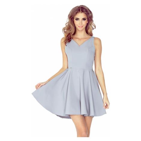 Šedé šaty s kolovou sukní model 4977936 Morimia