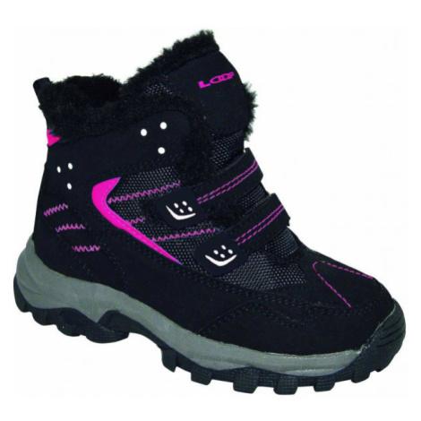 Loap BERNY růžová - Dětská zimní obuv