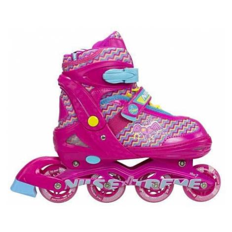 Dětské kolečkové brusle NILS EXTREME NJ 4613 A pink L(38-41)