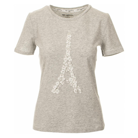 Karl Lagerfeld Karl Lagerfreld dámské tričko šedé žíhané