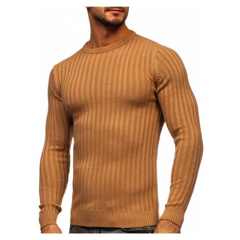 Hnědý pánský svetr Bolf 4603