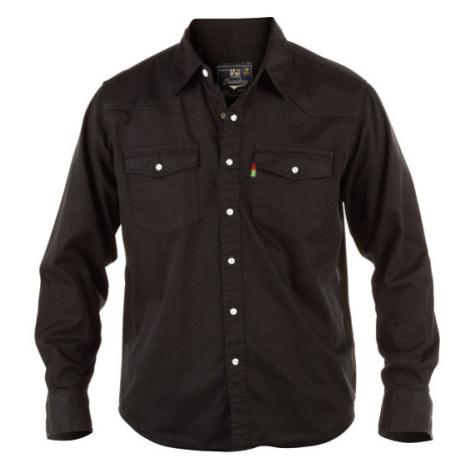 DUKE košile pánská WESTERN Style Denim Shirt riflová nadměrná velikost