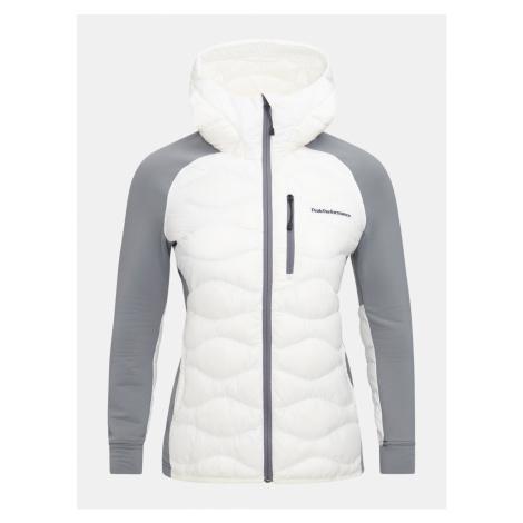 Bunda Peak Performance W Helium Hyb Hood Jacket - Bílá