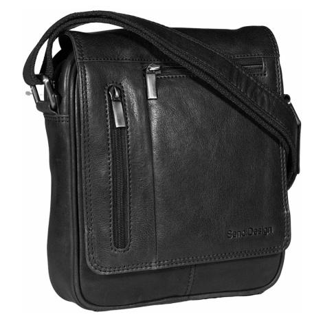 Kožená pánská taška SendiDesign M-702 černá Sendi Design