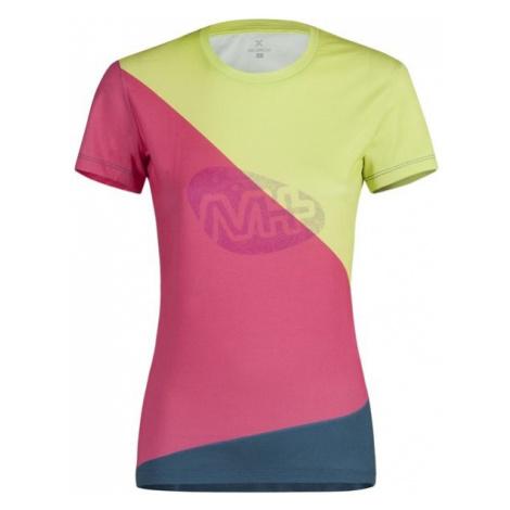 Montura dámské tričko M+ Block, růžová