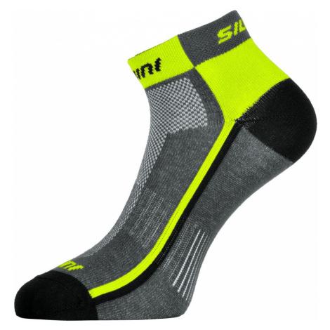 Silvini Cyklistické ponožky PLIMA UA622, charcoal/neon -47