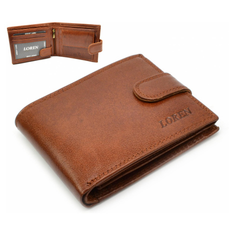Kožená peněženka pánská tmavě hnědá Loren