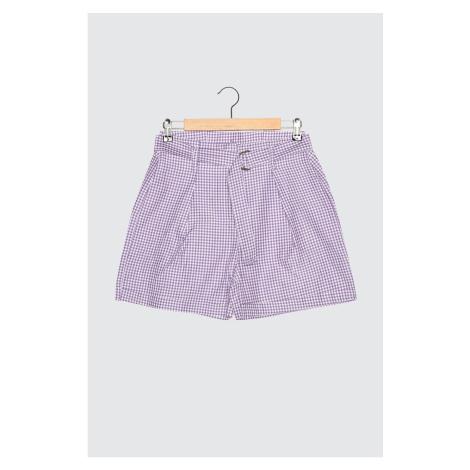 Trendyol Purple Belted Shorts & Bermuda