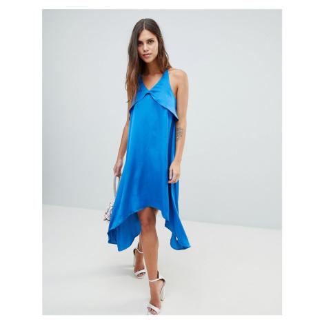 Y.A.S satin cami midi dress in blue