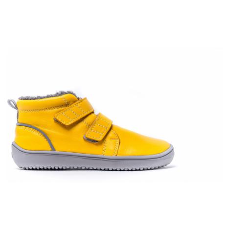 Dětské zimní barefoot boty Be Lenka Penguin - Yellow 35