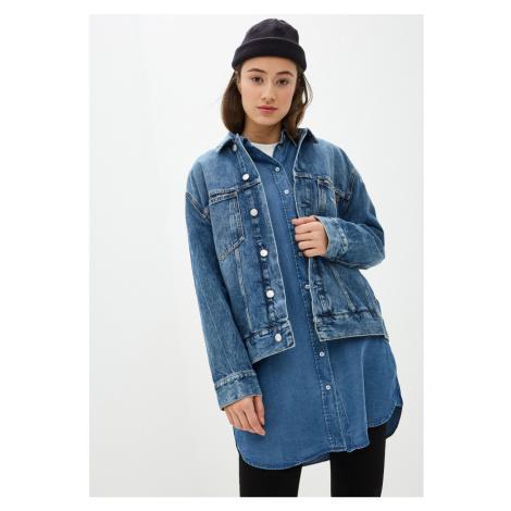 Calvin Klein dámská modrá džínová bunda