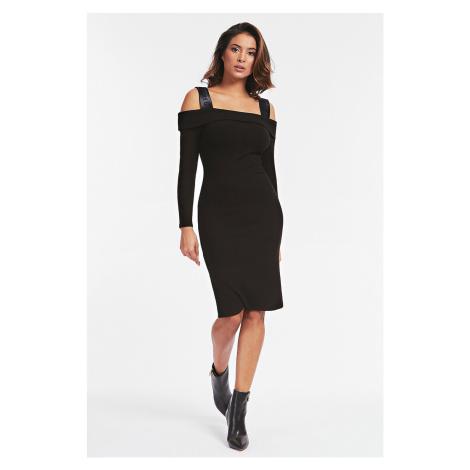 Guess černé šaty Abito Costine