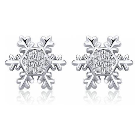 Linda's Jewelry Stříbrné náušnice Vločka Ag 925/1000 IN146