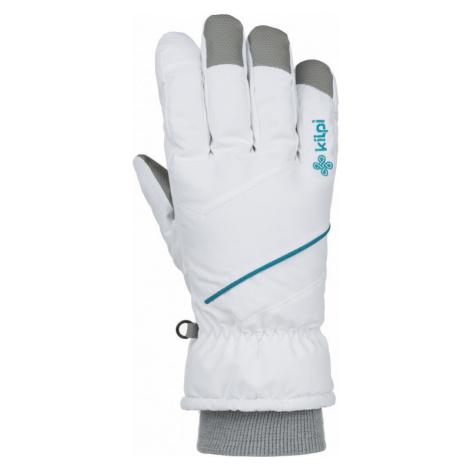 Unisex lyžařské rukavice KILPI Tata-u bílá