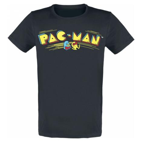 Pac-Man Retro Logo Tričko černá