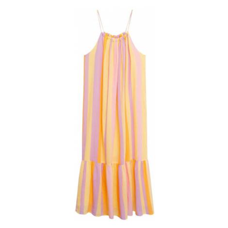 MANGO Letní šaty 'Niza' medová / světle žlutá / světle růžová / světle fialová
