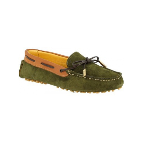 Leonardo Shoes 507 CAMOSCIO BOSCO Zelená