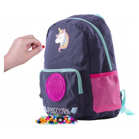 PIXIE CREW dětský batůžek Jednorožec  + Brožurka kreativních nápadů + 55 malých různobarevných p
