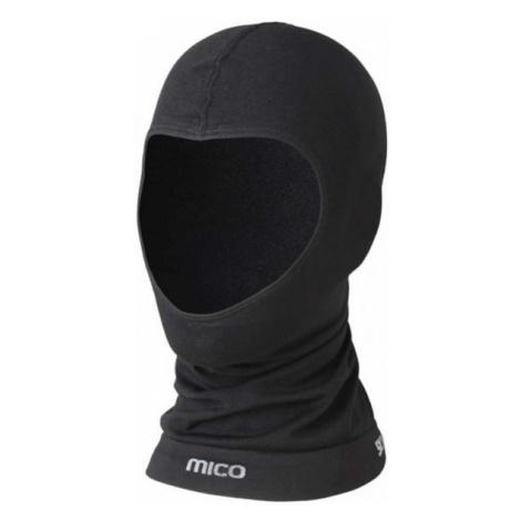 Mico WARM JNR černá - Lyžařská juniorská zateplovací kukla