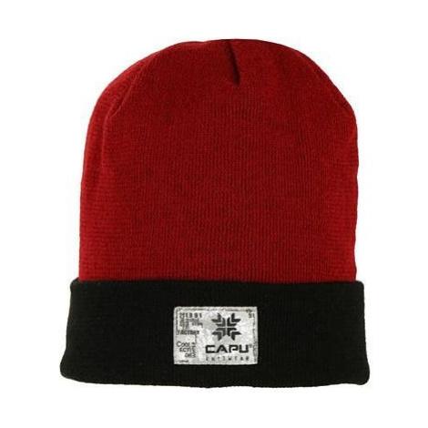 Čepice Capu 1701 C M - červená/černá