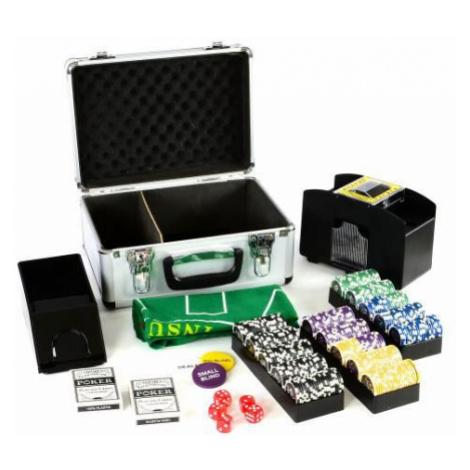 Garthen 27149 Poker kufr Deluxe 300 laserových žetonů