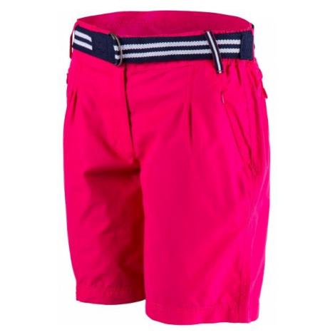 Willard ADENIKE růžová - Dámské plátěné šortky
