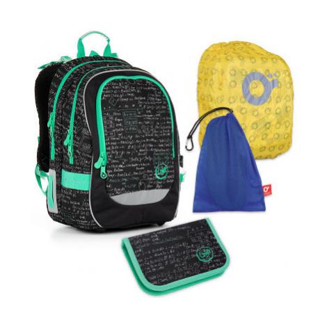 Velký školní set TOPGAL - CHI 866 A + CHI 889 + Pytlík na přezůvky + pláštěnka